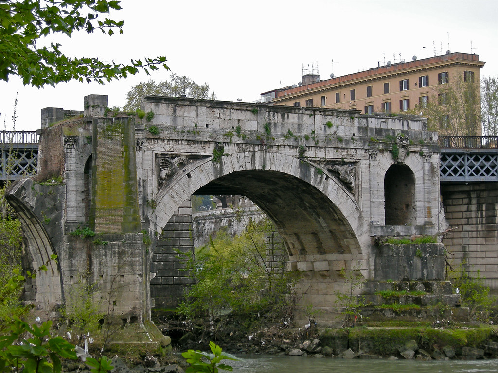 Ponte Rotto. Pons Aemilius | Primer puente de piedra