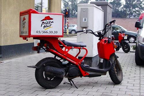 Delivery Scooter Pizza Hut  Belgium  Belgium Antwerpen