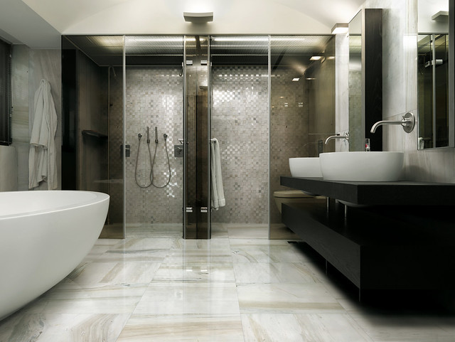 i Preziosi bathroom marble porcelain floor tiles and mosa  Flickr