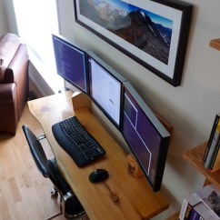 Eames Aluminum Chair Rail Profiles Hanging Desk 3 Monitor Workspace   Here's The Finished Proje… Flickr
