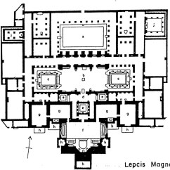 Roman Baths Diagram 2 Amp Wiring Four083 The Of Emperor Hadrian At Lepcis