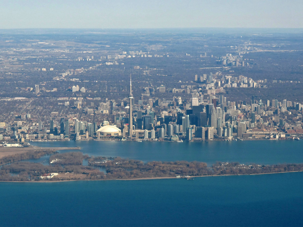 Downtown Toronto from the Air  Luckily because our flight  Flickr
