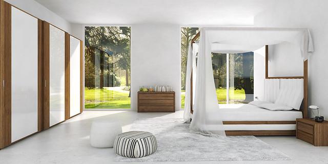 Mazzali WIND canopy bed  il letto a baldacchino WIND SK