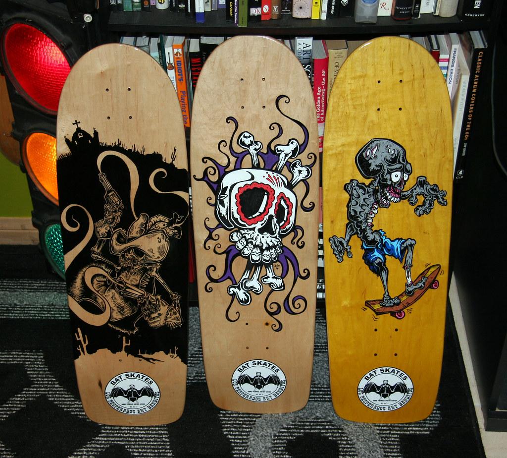 Hand Painted Skateboards By David Lozeau Acrylic Paint