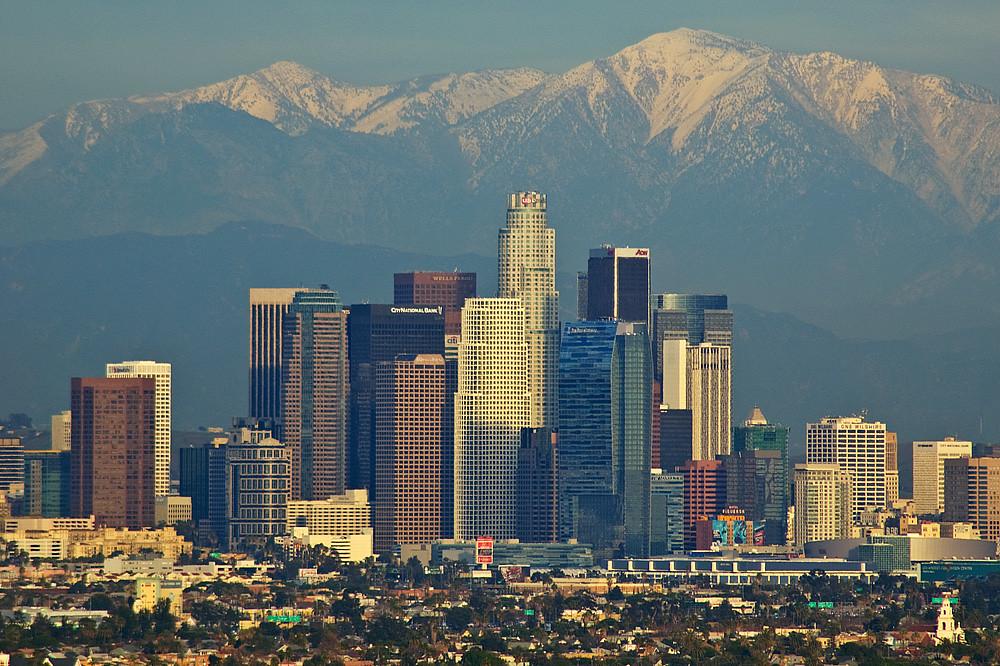 3d Asteroid Wallpaper Los Angeles Skyline Dave Reichert Flickr
