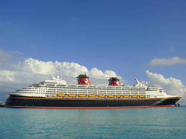 Disney Wonder  Disney Wonder docked at Castaway Cay A