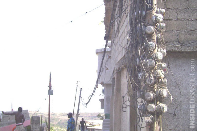 Electric Pole With Many Counters Port Au Prince Fallen
