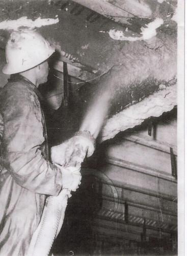 Spraying Limpet Asbestos  Limpet spraying required