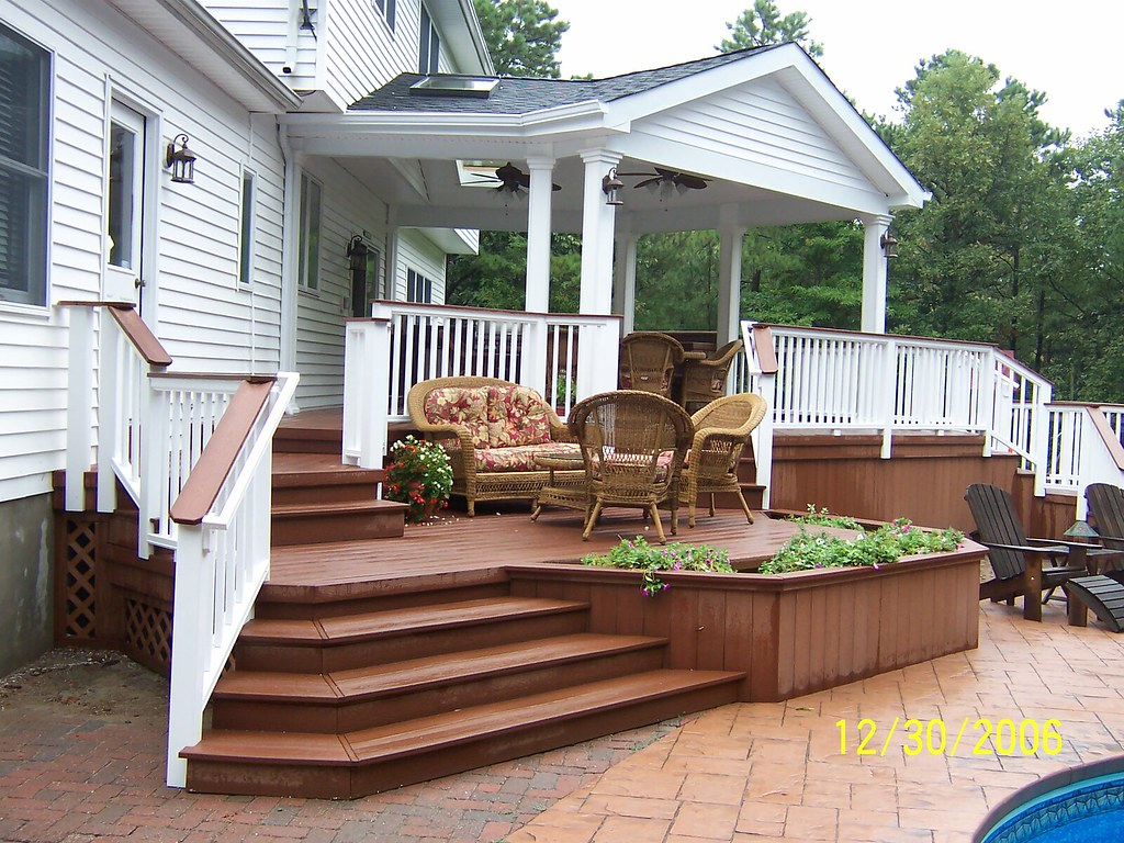 700 Sq. Ft. Multi-level Deck With Roof Structure
