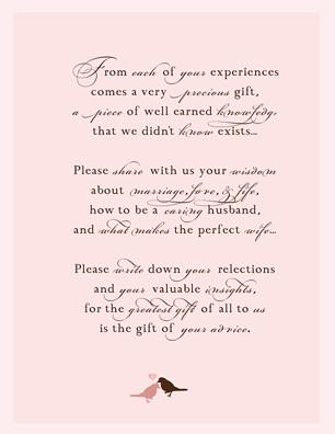 Wedding Guestbook Poem  blush printables  Flickr