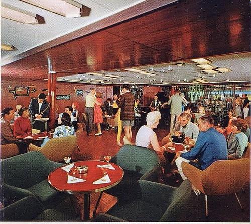 SS Michelangelo cmid 1960s  First class Veranda Bar