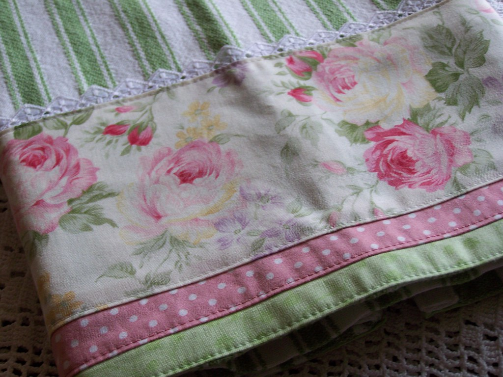 hand towels for the kitchen knife sets cottage roses and shabby chic decor.   decorative ...