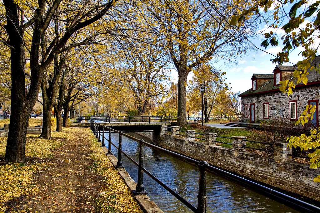 Fall Of The Autumn Hd Wallpaper Lachine Canal Lachine Canal In Fall Montreal Artur