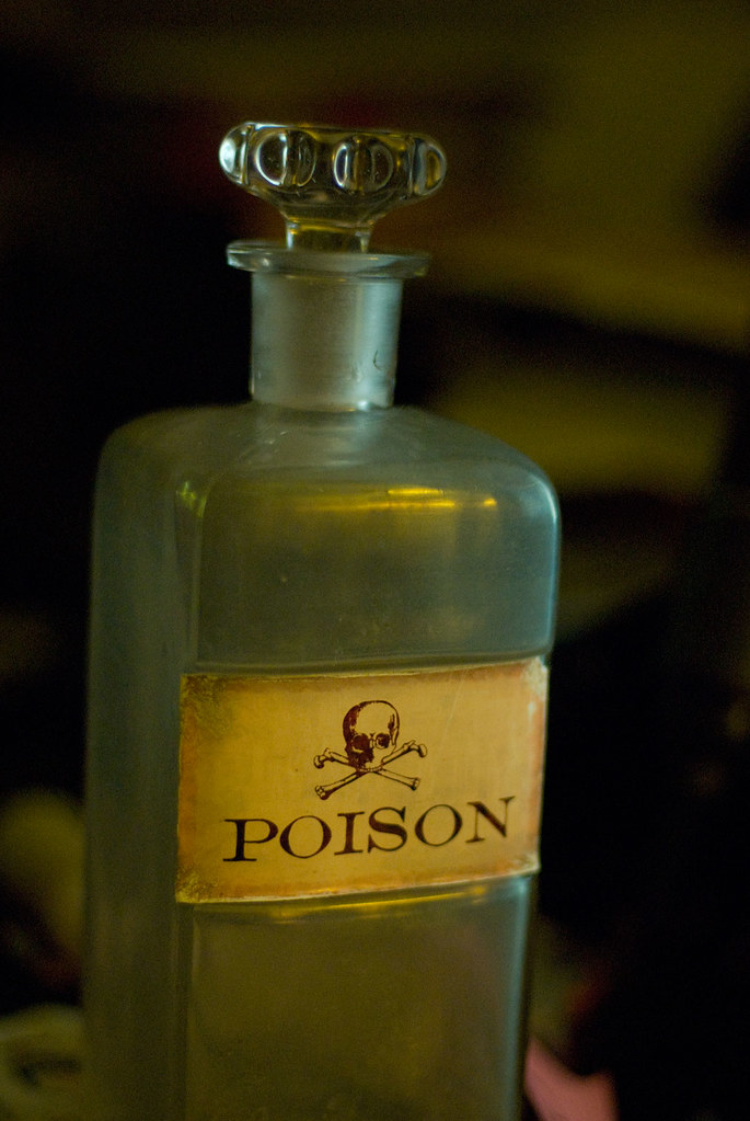 Poison Bottle Glass Apothecary Bottle Supposedly From