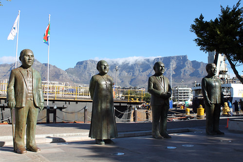 Statues of Albert Luthuli Desmond Tutu FW de Klerk Nels