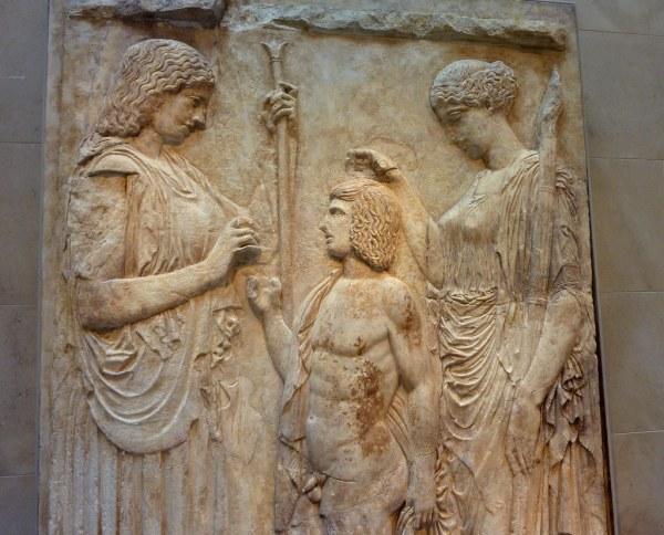 Fragments Of Eleusinian Relief Showing Demeter Godde