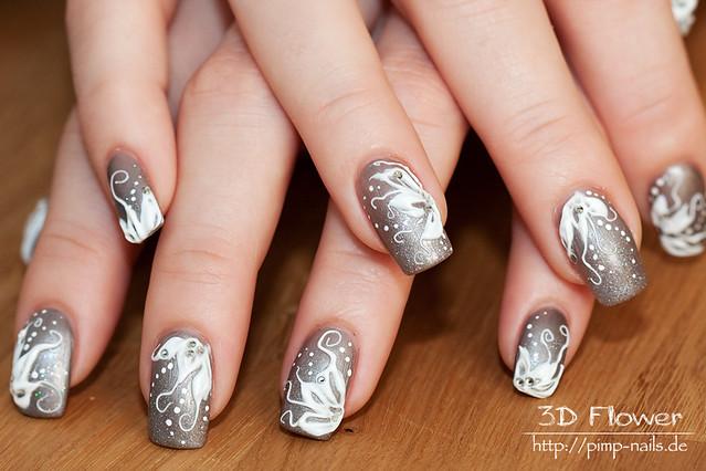 nail art - 3d flower 4988