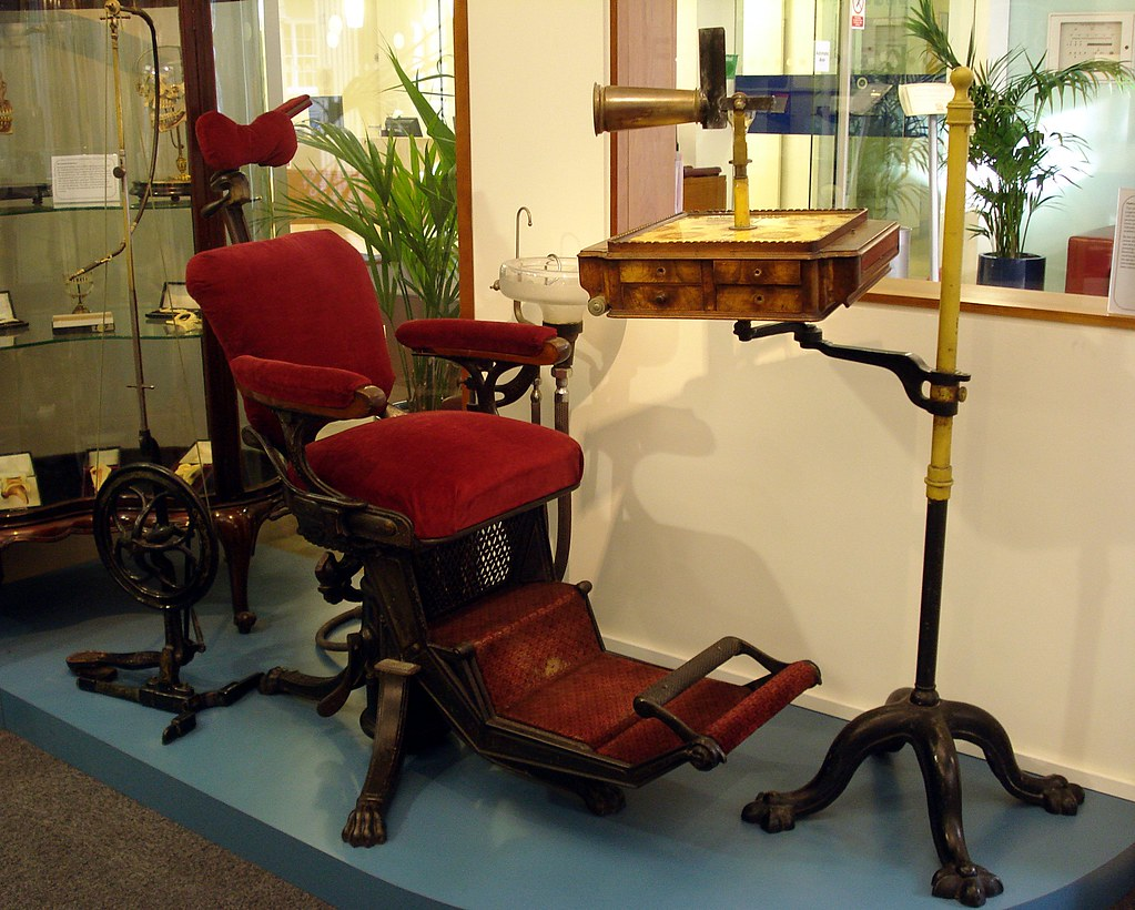 antique dentist chairs chrome dining with arms vintage dental chair at the british association mus