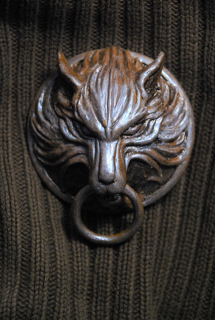 Clouds Wolf medallion FFVII  Crafted from polymer clay