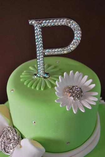 Elegant 60th Birthday Cake upclose  Liza  Flickr