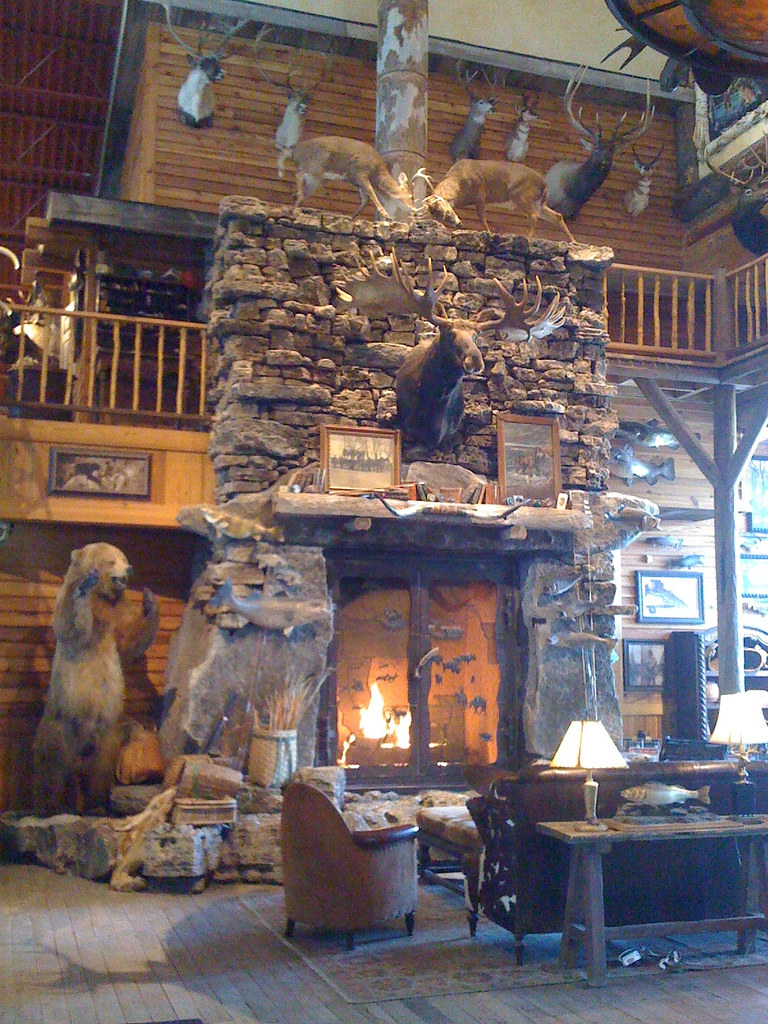 Bass Pro Fireplace  Photo a Day  Fireplace in the entrance  Flickr