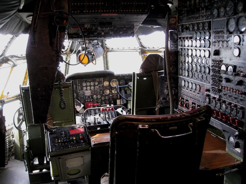 KC97 Stratotanker Cockpit  This was a remarkably large