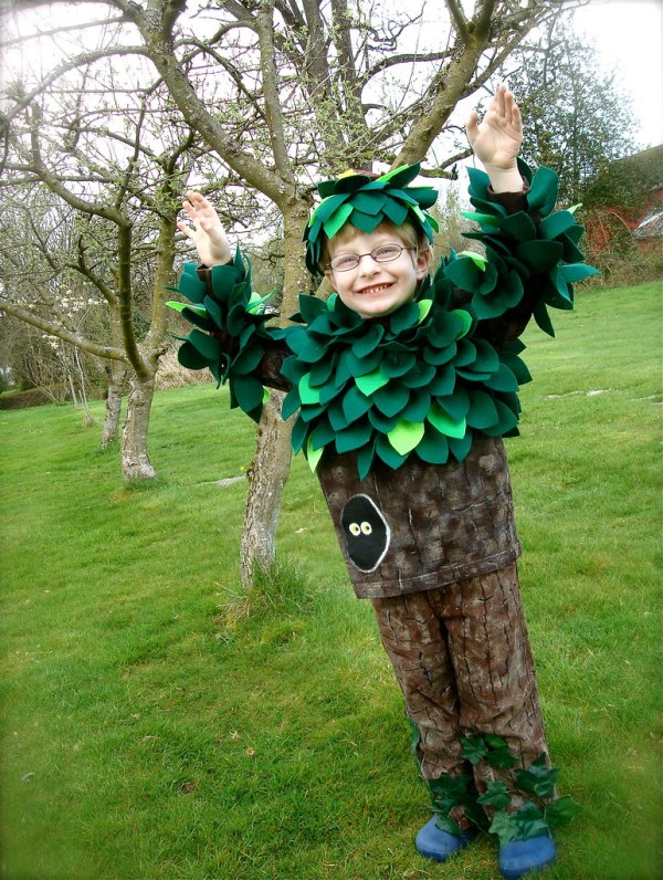 Handmade Tree Costume In Forest