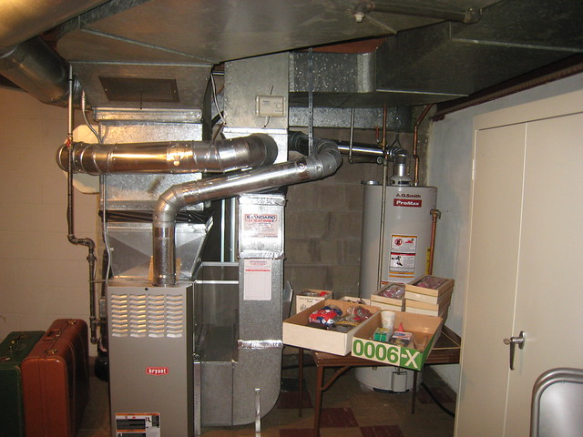 basement storage 1; new furnace & water heater