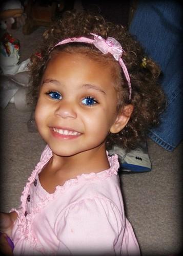 Baby Blue Eyes Dark Skin
