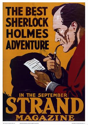 SHERLOCK HOLMES STRAND POSTER  Many of Sir Arthur Conan