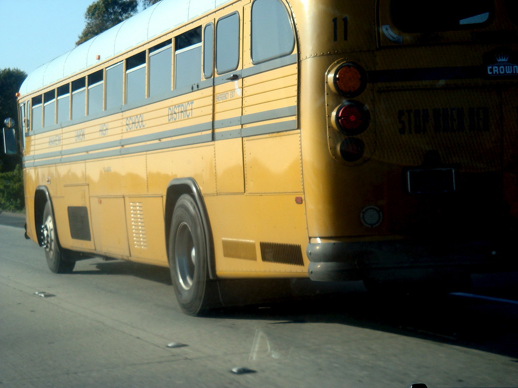 On the Road to Costa Mesa Old School School Bus Anaheim