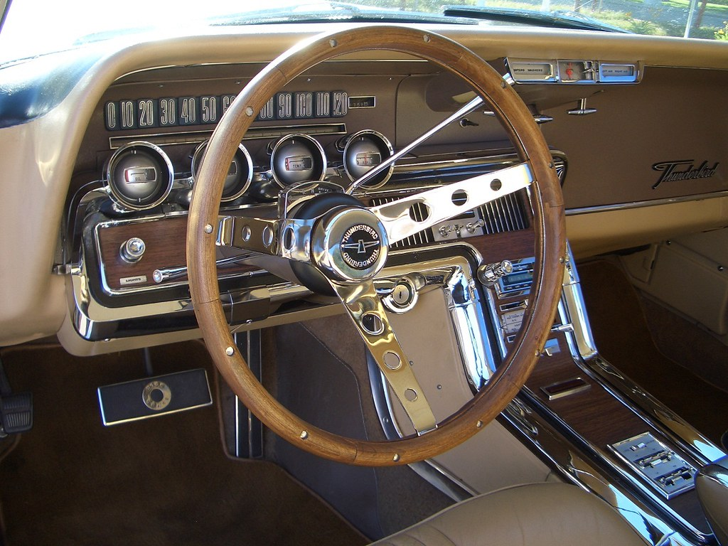 White Wall Clock Large My 1965 Ford Thunderbird - Swing Away Wheel (before) | Flickr