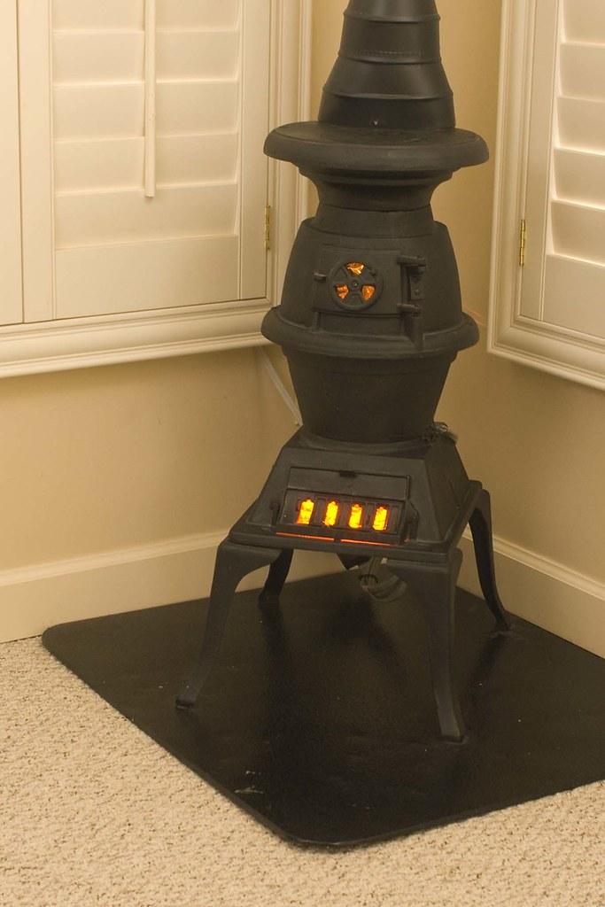 Electric pot belly stove  110 volt timer controls when fla  Flickr