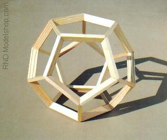 Dodecahedron wood frame model 9 tall  These are great as
