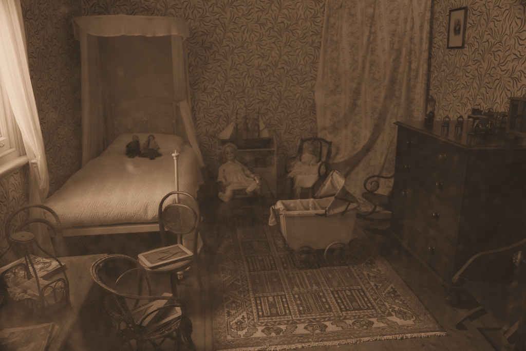 The Olden Days  Bedroom  A sepiatone modified shot of