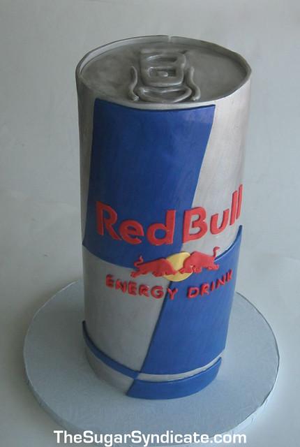 Red Bull Birthday Cake   The Sugar Syndicate Custom