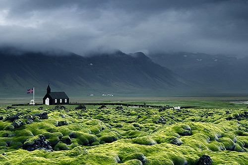 Iceland Budir church  Typical Icelandic church on the