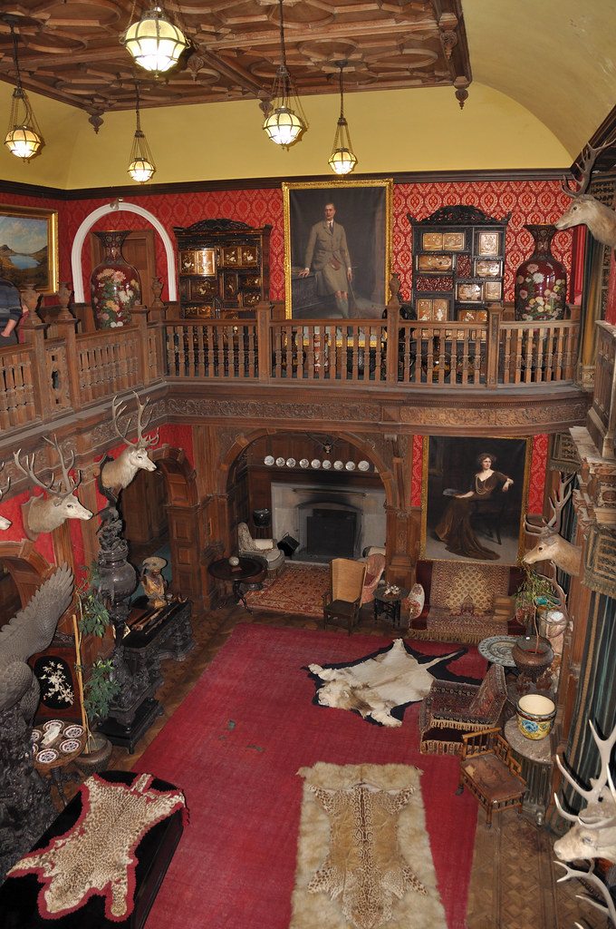 Kinloch Castle  the great hall full of items collectedgift  Flickr