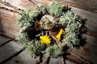 Leprechaun Wreath; Land Art | Played with the lighting on ...