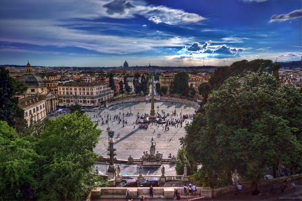 Piazza del Popolo dal Pincio Rome Italy  Pincio  Villa B  Flickr