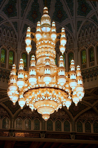 Sultan Qaboos Grand MosqueChandelier  The largest