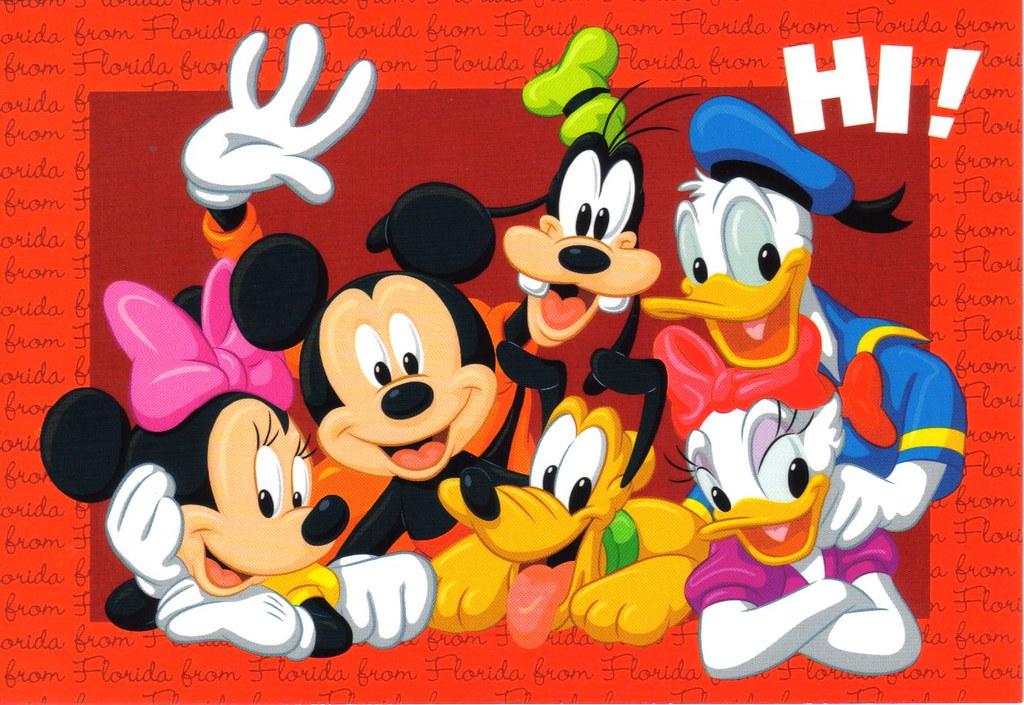 LARGE Florida Red Disney Postcard Erin Flickr
