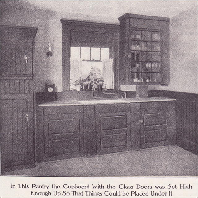 1911 Kitchen Pantry Source Ladies Home Journal From The