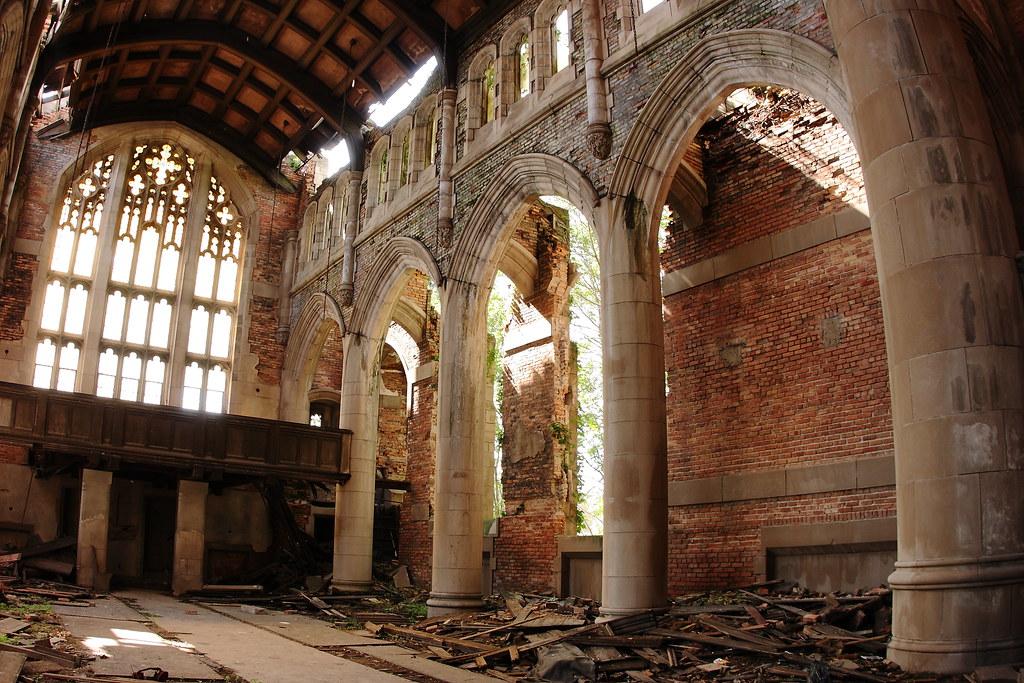 Sanctuary Abandoned City Methodist Church Gary Indiana
