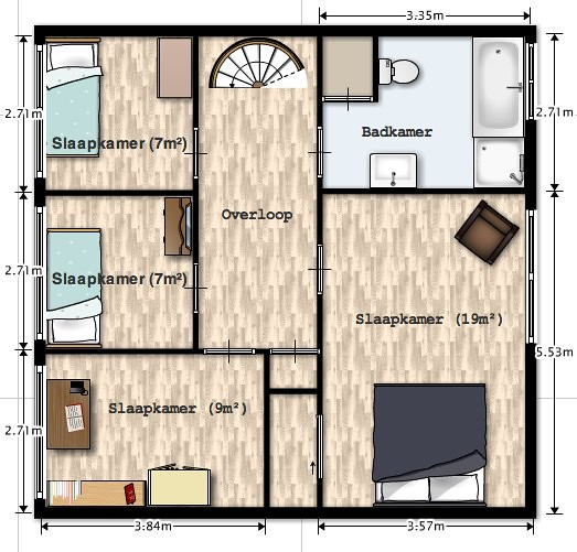 Plattegrond eerste verdieping  Rust en ruimte in de