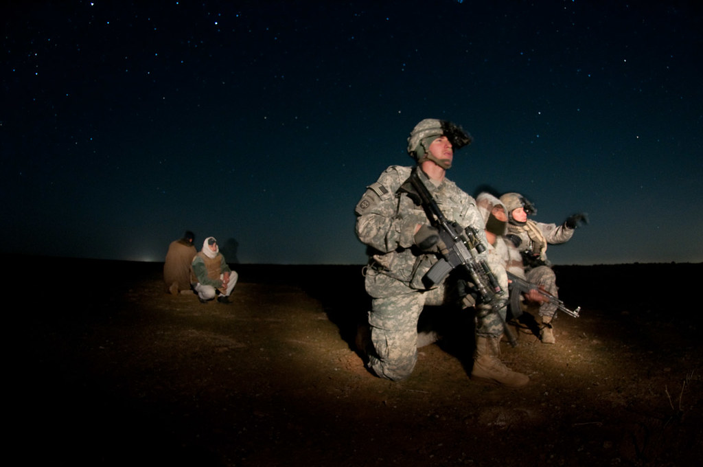 Tactical patrol at night  1st Lt Pat Barone foreground a  Flickr