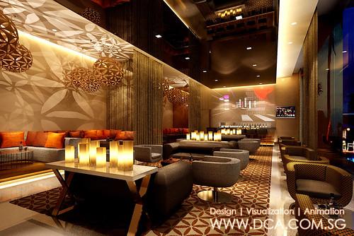 Novotel Vizag Lounge Bar Hotel 3D rendering  3D