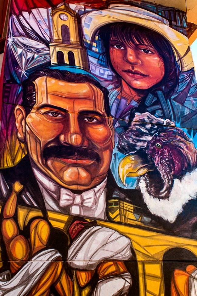 The mural Villazón, Potosí Department, Bolivia