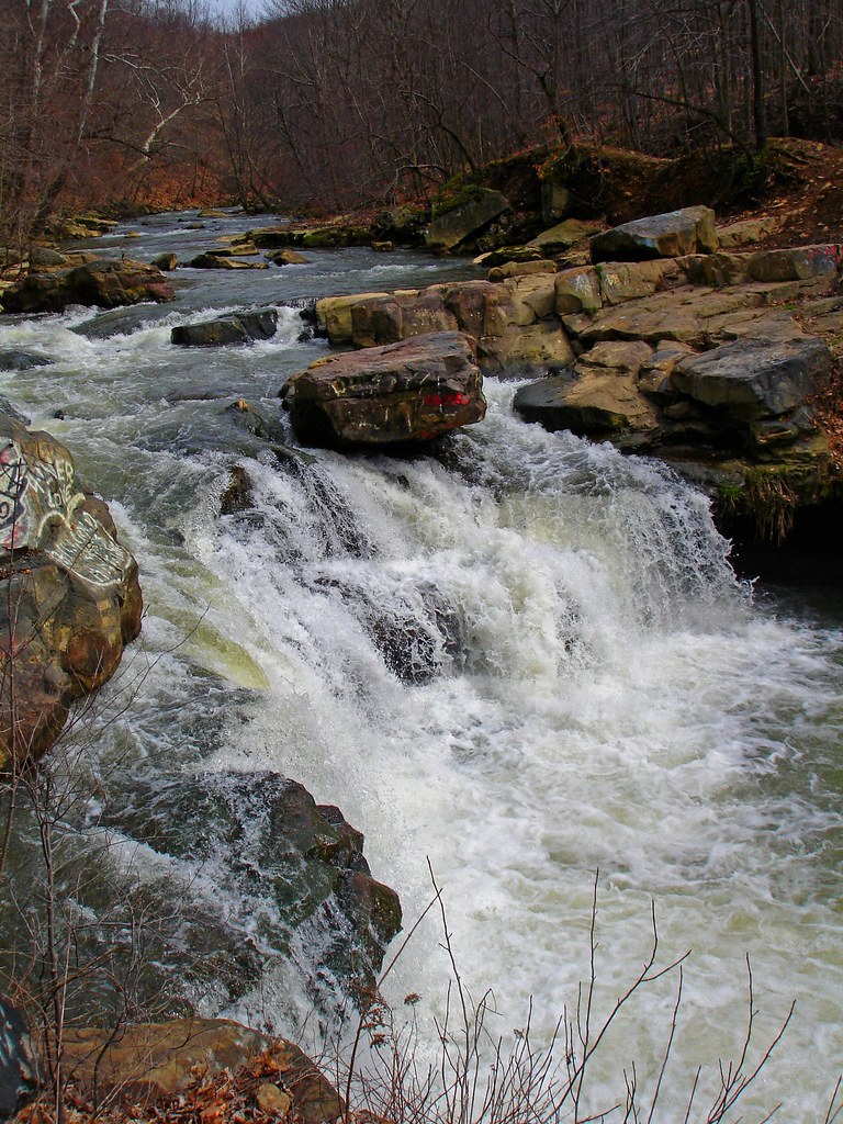 Creek Falls west of Scottdale Pa  On Jacobs Creek in