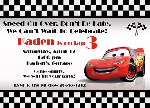Cars Birthday Invitation Amy Orlando Flickr